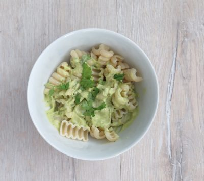 avocado and lemon pasta meat free Monday recipe